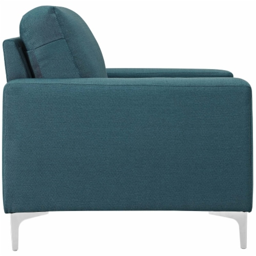 Allure 3 Piece Sofa and Armchair Set - Blue Perspective: top