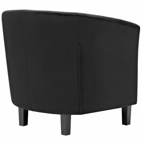 Prospect 2 Piece Velvet Armchair Set - Black Perspective: top