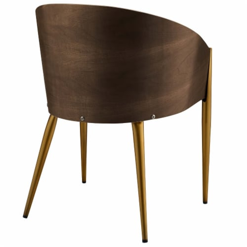 Cooper Faux Leather Dining Armchair - Gold Perspective: top