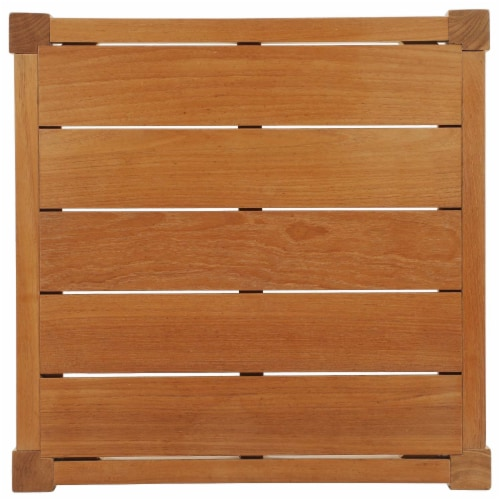 Northlake Outdoor Patio Premium Grade A Teak Wood Side Table Perspective: top