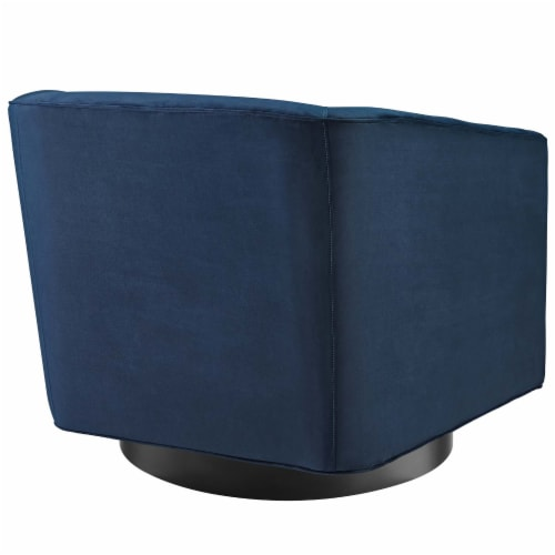 Twist Accent Lounge Performance Velvet Swivel Chair Perspective: top