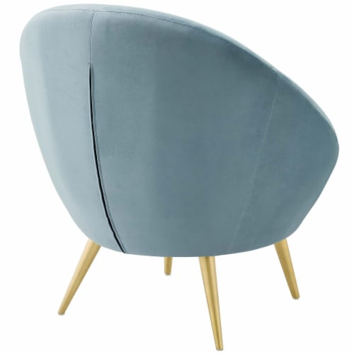 Circuit Performance Velvet Accent Chair Perspective: top