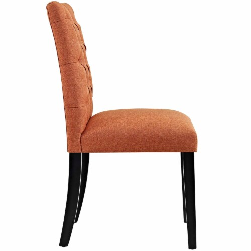 Duchess Dining Chair Fabric Set of 2 - Orange Perspective: top