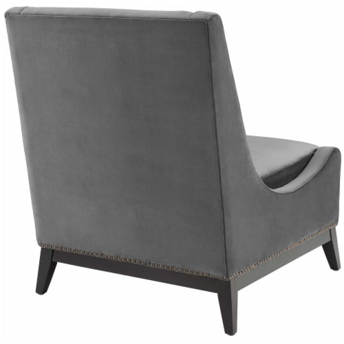 Confident Accent Upholstered Performance Velvet Lounge Chair Perspective: top