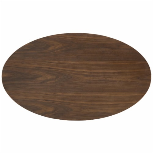 """Lippa 48"""" Oval Walnut Dining Table Perspective: top"""
