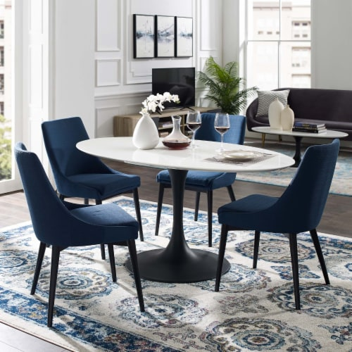 """Lippa 60"""" Oval Wood Top Dining Table Perspective: top"""