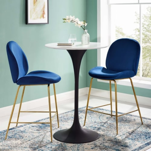 """Lippa 28"""" Round Wood Bar Table Perspective: top"""