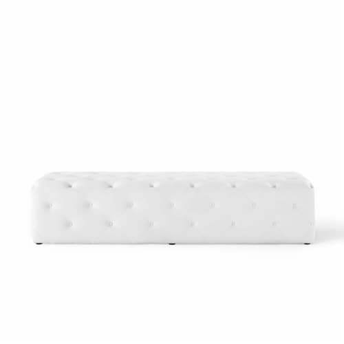 """Anthem 72"""" Tufted Button Entryway Faux Leather Bench Perspective: top"""