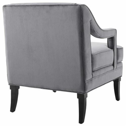 Concur Living Room Set Performance Velvet Set of 3 Gray Perspective: top