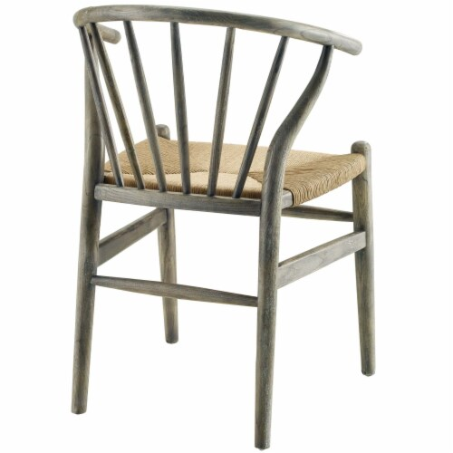Flourish Spindle Wood Dining Side Chair Set of 2 Gray Perspective: top