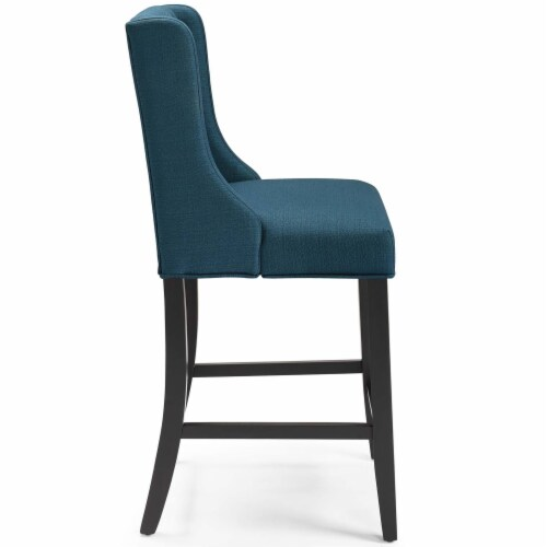 Baronet Counter Bar Stool Upholstered Fabric Set of 2 Azure Perspective: top