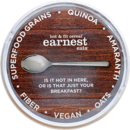 Earnest Eats Hot And Fit  Cereal Cup Mayan Blend Perspective: top