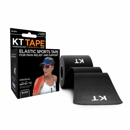 KT Tape For Pain Relief & Support Elastic Sports Tape - Black Perspective: top