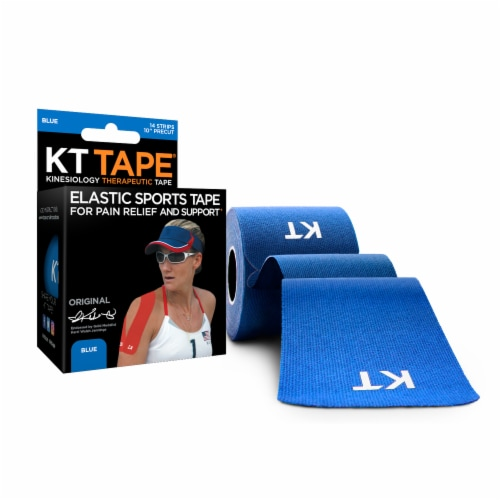 KT Tape Blue Elastic Sports Tape Perspective: top