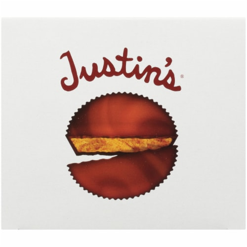 Justin's Organic Milk Chocolate Peanut Butter Cups Perspective: top