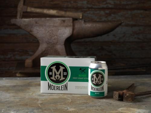 Christian Moerlein Rivet West Coast Style IPA Beer Perspective: top
