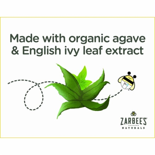 Zarbee's Naturals Baby Agave & Ivy Leaf Grape Cough Syrup + Mucus Dietary Supplement Perspective: top
