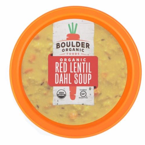Boulder Organic Lentil Red Dahl Soup Perspective: top