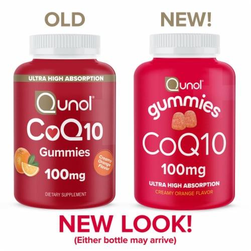 Qunol® CoQ10 Creamy Orange Flavored Gummies 100mg Perspective: top