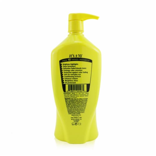 """""""""""It's A 10 Miracle Brightening Shampoo (For Blondes) 1000ml/33.8oz"""""""" Perspective: top"""