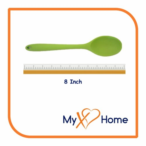 My XO Home Silicone Kitchen Cooking Tools (Green Spoon) Perspective: top