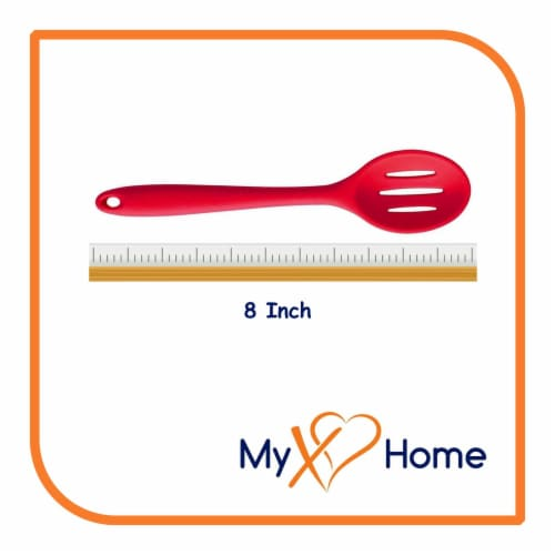 My XO Home Silicone Kitchen Cooking Tools (Red Slotted Spoon) Perspective: top