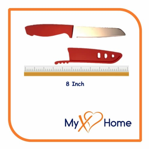 My XO Home Silicone Kitchen Cooking Tools (Red Knife) Perspective: top