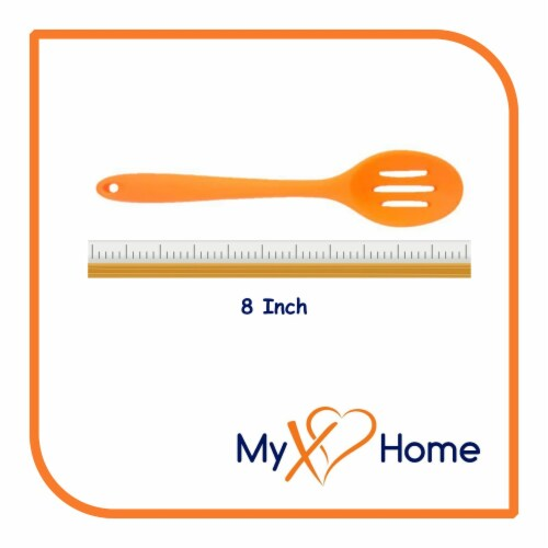 My XO Home Silicone Kitchen Cooking Tools (Orange Slotted Spoon) Perspective: top