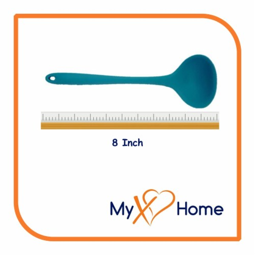 My XO Home Silicone Kitchen Cooking Tools (Light Blue Ladle) Perspective: top