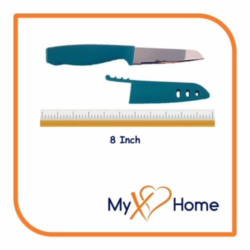 My XO Home Silicone Kitchen Cooking Tools (Light Blue Knife) Perspective: top