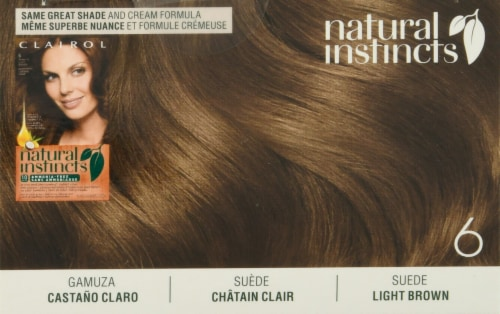Clairol Healthy Looking Natural Instincts 6 Light Brown Hair Color Perspective: top
