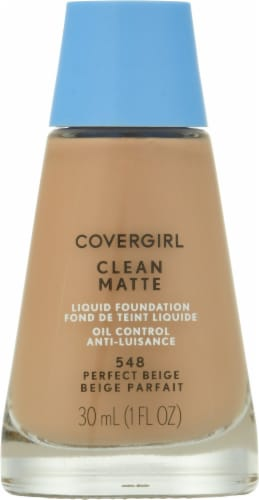 Covergirl Clean Matte 548 Perfect Beige Liquid Foudation Perspective: top