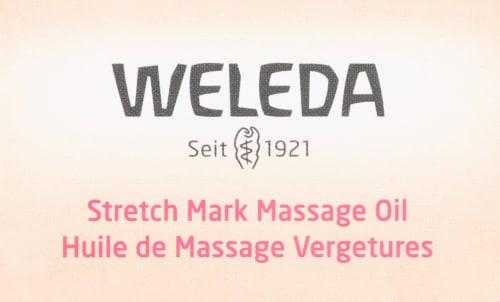 Weleda Stretch Mark Massage Oil Perspective: top
