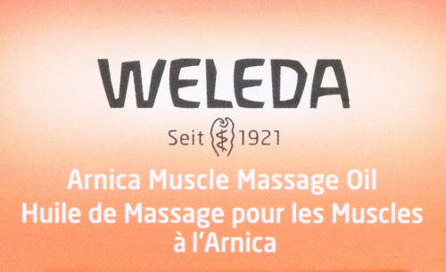Weleda Arnica Muscle Massage Oil Perspective: top
