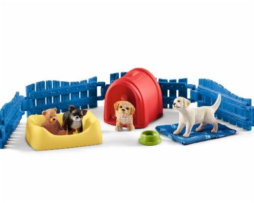 Schleich Farm World Puppy Pen Playset Perspective: top