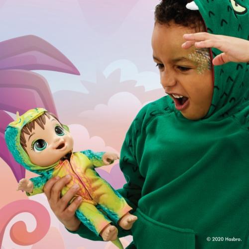 Hasbro Baby Alive Dino Cuties Doll -Brown Hair Perspective: top
