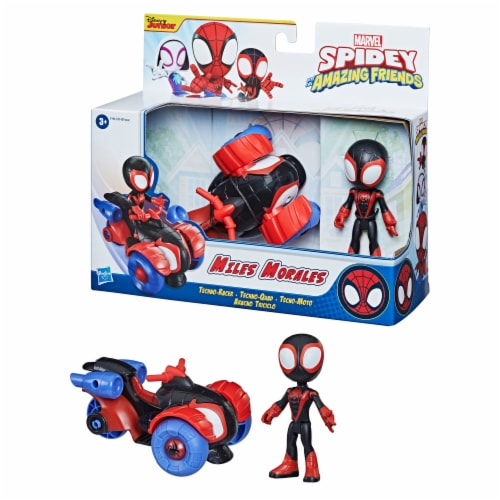 Hasbro Marvel Spidey and His Amazing Friends Miles Morales Techno-Racer Perspective: top