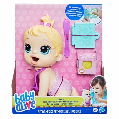 Hasbro Baby Alive Lil Snacks Blonde Doll Perspective: top