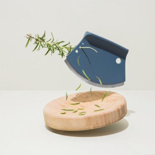 BergHOFF Leo Bamboo Herb Cutter Set - 2 Piece - Blue Perspective: top