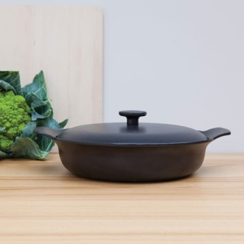 BergHOFF Ron Cast Iron Cookware Set - Black Perspective: top