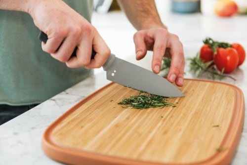 BergHOFF Leo Stainless Steel Chef Knife with Herb Stripper - Gray Perspective: top