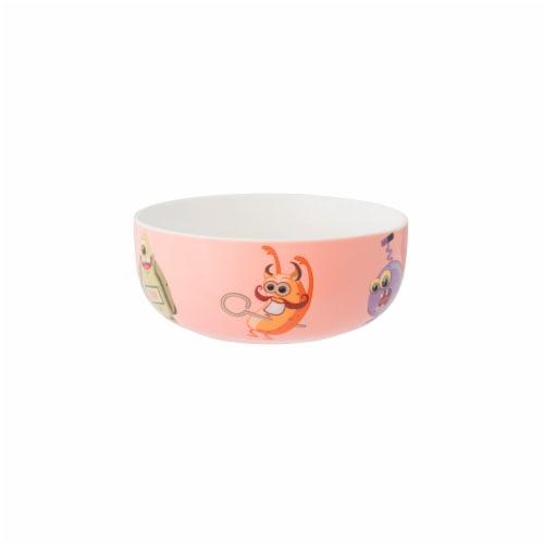 BergHOFF Essentials MonsterChefz Porcelain Dinnerware Set - Pink Perspective: top