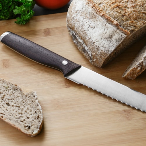 BergHOFF Essentials Rosewood Stainless Steel Bread Knife Perspective: top