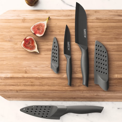 BergHOFF Essentials Ergonomic Stainless Steel Chef's Knife with Sleeve - Black Perspective: top