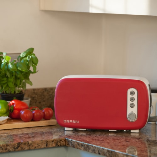 BergHOFF Seren Side Loading Toaster - Red Perspective: top