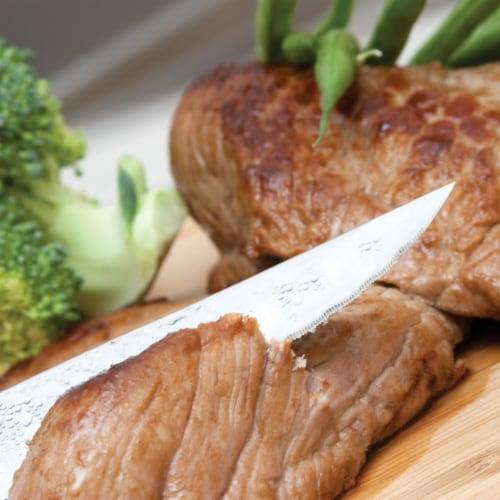 BergHOFF Essentials Eclipse Stainless Steel Steak Knife Set Perspective: top