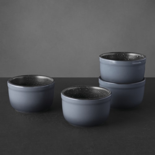 BergHOFF Gem Stoneware Medium Ramekins - 4 Pack - Gray Perspective: top