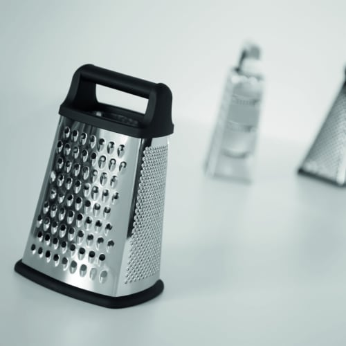BergHOFF Essentials Stainless Steel 4-Sided Grater with Handle Perspective: top
