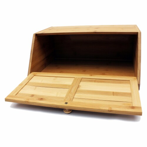 BergHOFF Bamboo Bread Box Perspective: top
