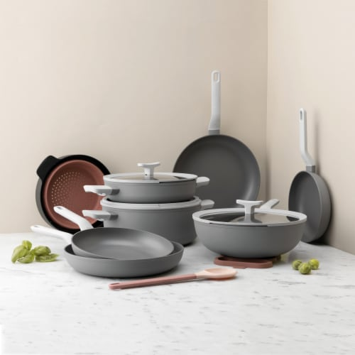 BergHOFF Leo Non-Stick Fry Pan - Grey Perspective: top
